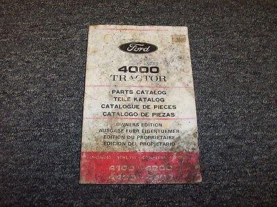 Ford 4000 4100 4200 4400 4500 Industrial Tractor Original Parts Catalog Manual
