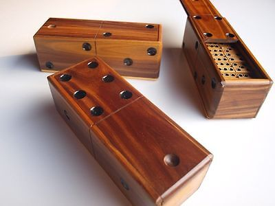 Wooden Double Six Dominoes Professional Game Set 28 Finely Crafted In Vera Wood