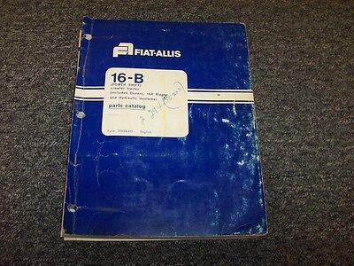 Fiat Allis 16b Power Shift Bulldozer Dozer Crawler Tractor Parts Catalog Manual