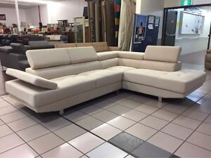 CLEARANCE - FABRIC CORNER LOUNGE W/ADJUSTABLE HEADRESTS Logan Central Logan Area Preview