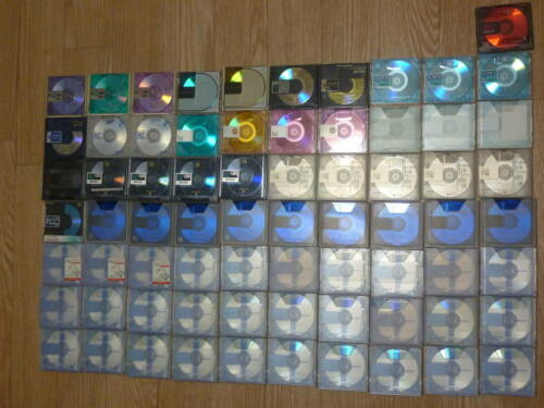 200 BLANKDISC MD Mini Disk lot of Mds music life