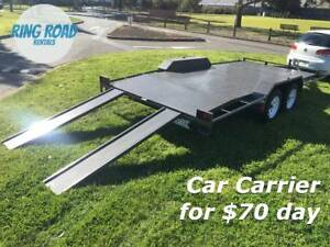 CAR CARRIER TRAILER HIRE - HEAPS OF TANDEMS FOR RENT - $70.00