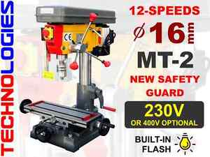 BENCH DRILL PRESS DRILLING MILLING MACHINE 16MM - 230V OR 400V / NEW!