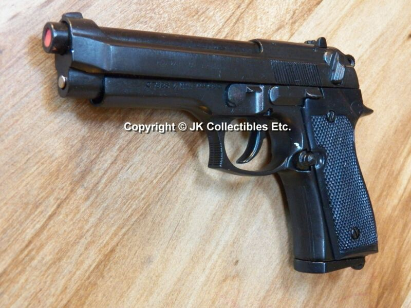 Replica Blued Finish Beretta M92 Military Automatic Pistol Reenactor Prop Gun
