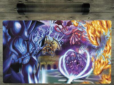 YuGiOh Card Of God Deck Duel Battlefield Custom Playmat TCG Mat Free Best Tube