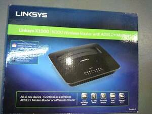 NEW Linksys X1000 N300 Wireless Router With ADSL2+ Modem Blacktown Blacktown Area Preview