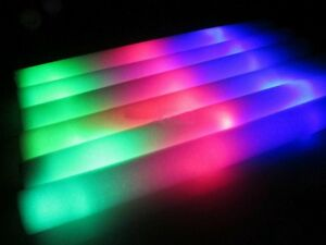 100 pcs light up foam sticks led wands rally rave batons for Led wands wholesale