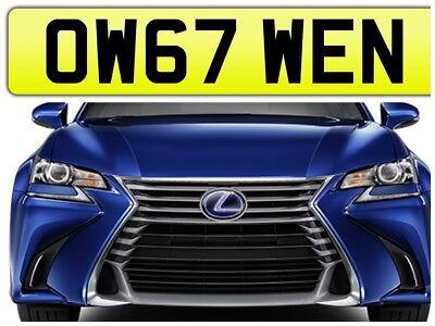 OWEN PRIVATE NUMBER PLATE CAR REGISTRATION OW67 WEN✔️OWENS OWEN✔️2017 CARS ON