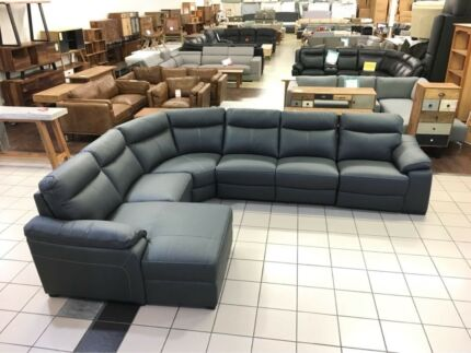 NEW VLAD CORNER LOUNGE W/CHAISE AND RECLINER GUNMETAL