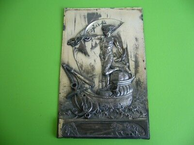 804K02 Alte Reliefplatte Georg Bommer Handel, Seefahrt Segelschiff Handelsschiff online kaufen