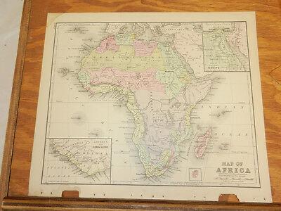 1885 Warren Antique COLOR Map  ///  (Map Africa Colour)