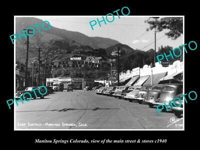 OLD 8x6 HISTORIC PHOTO OF MANITOU SPRINGS COLORADO THE MAIN ST & STORES (The Colorado Store Colorado Springs)