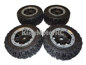 King Motor T1000 GT Pioneer Knobby Wheels Set of 4 Fits HPI Baja 5T, 5SC 5ive T