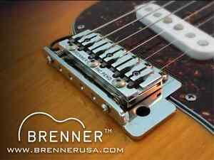 brenner piezo one strat bridge hybrid guitar conversion saddle kit ebay. Black Bedroom Furniture Sets. Home Design Ideas