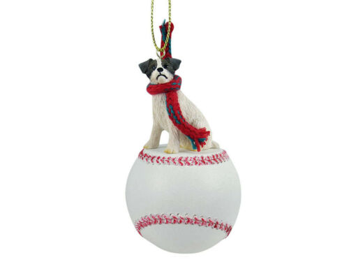 Jack Russell Terrier Dog Brown Baseball Sports Figurine Ornament