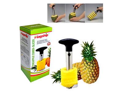 Pineapple Corer Cutter Slicer Easy Kitchen Gadget Stainless Steel Fruit Peeler