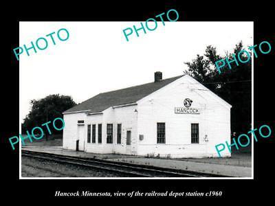 OLD LARGE HISTORIC PHOTO OF HAMOCK MINNESOTA, THE RAILROAD DEPOT STATION c1960 segunda mano  Embacar hacia Argentina