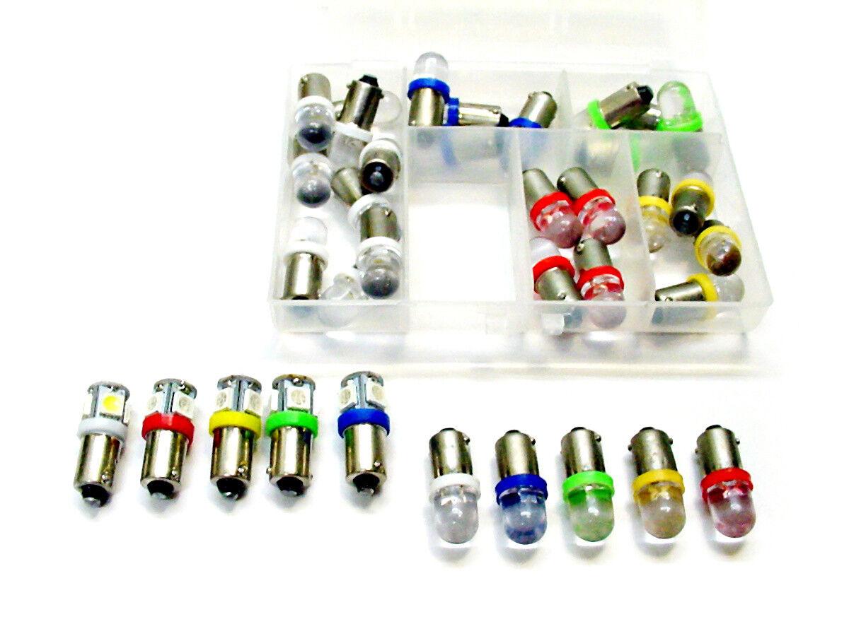 36pc Asst Instrument Panel Dashboard LED Lights Bulbs Kit BA9S 53 57 1895 Ford