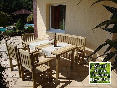 Garden Furniture - CORTINA GARDEN FURNITURE SET, HIGH QUALITY WOOD, DURABLE AND ELEGANT