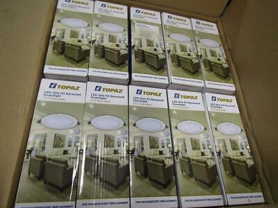 "Box of 20 Topaz 6"" CCT 12W LED Slim Fit Recessed Downlight RDL/6RND/12/5CTS"