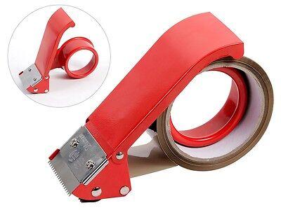 Metall Handabroller Paketband-Abroller Verpackung Packband Klebeband Spender Rot