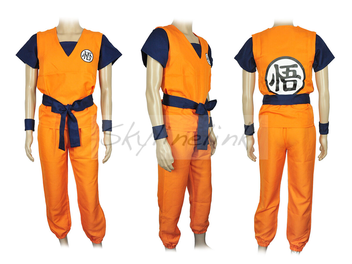 Dragonball Son Goku Kakarot Anime Cosplay Kostüm Costume Trainingsanzug S-XXL