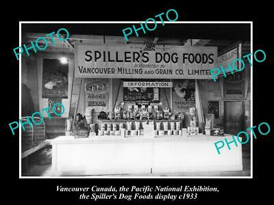 6x4 HISTORIC PHOTO OF CANADA INDUSTY, VANCOUVER, SPILLERS DOG FOOD DISPLAY 1933