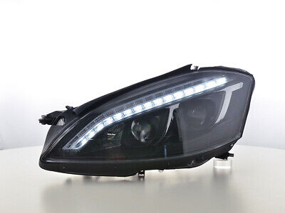 Scheinwerfer Daylight LED TFL-Optik Mercedes-Benz S-Klasse (221) Bj. 05-09 schwa