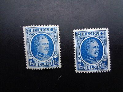 206 xx MNH Albert I Houyoux kleuren - couleurs