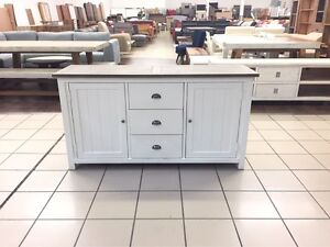 3 DRAWER 2 DOOR BUFFET WHITE / GREY Logan Central Logan Area Preview