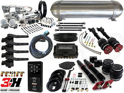 Complete Airbag Suspension Kit w/ Air Lift 3H, 2005-2017 LX Platform Charger