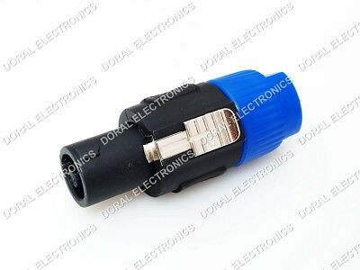 Male 2 Conductor - 10x Speakon Male Plug Speaker Box 2 Pole Conductor Contact Audio Cable Connector
