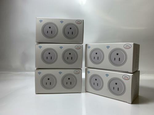 5 Pack Deco Gear Wifi Smart Plug, Compatible with Amazon Alexa & Google Home