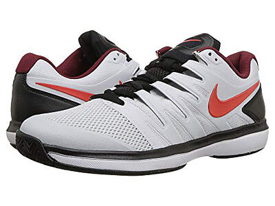 46e434cbbc2 NEW Nike Air Zoom Prestige HC Size 9.0 Men s Tennis Shoe Habanero Red