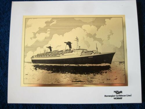 S/S NORWAY -- Gold Foil Print, 1980s -- Norwegian Caribbean Lines