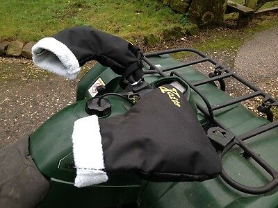 Xcite Quad Bike ATV Snowmobile Scooter Motorcycle Hand Mitts Fleece Lined