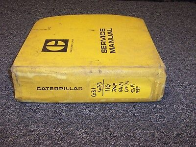 Cat Caterpillar 631 633 Wheel Tractor Scraper Shop Service Repair Manual Guide