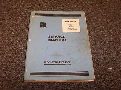 International Dresser Td25c Dozer Crawler Tractor Chassis Service Repair Manual