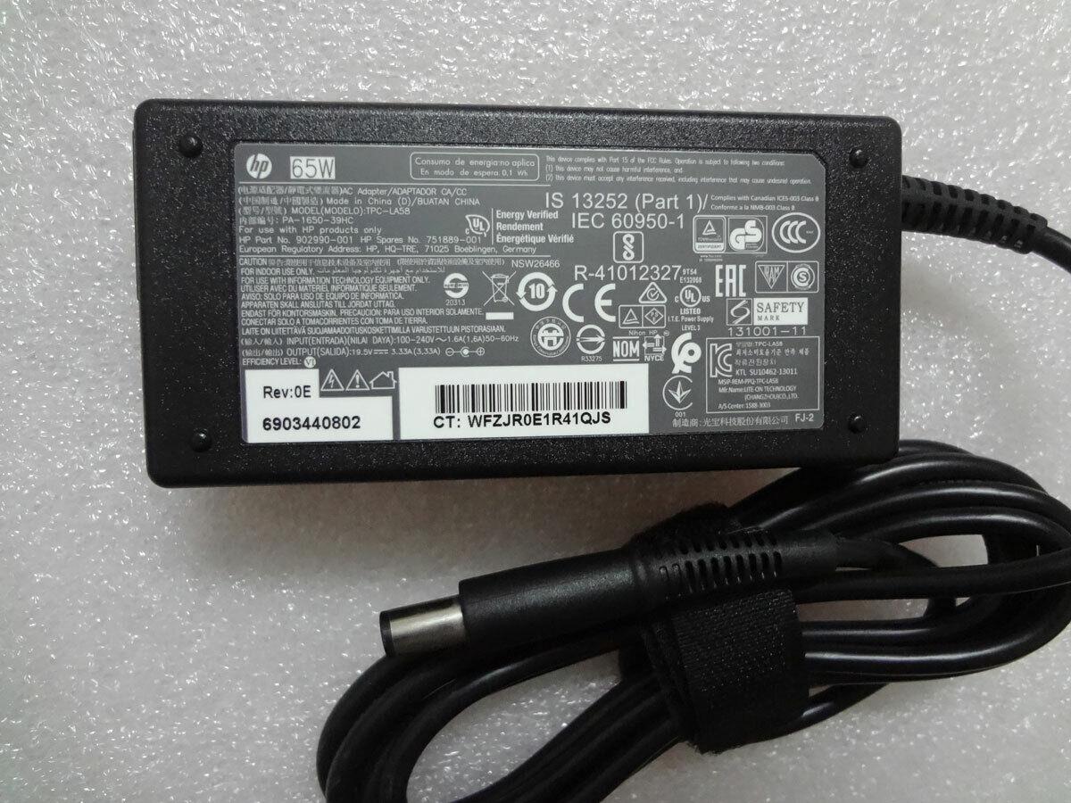 Genuine 19.5V 3.33A for HP Envy x360 15-bq150na Laptop 854117-850 65W AC Adapter