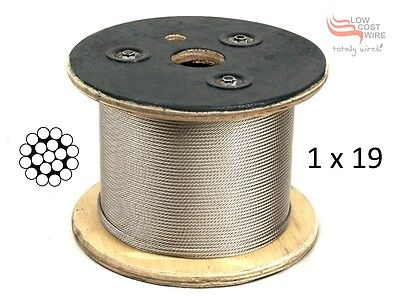 305M Reel of 1x19 G316 Stainless Steel Wire Rope