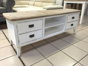 BRAND NEW - ANTIQUE TV UNIT RECYCLED TIMBER Logan Central Logan Area Preview