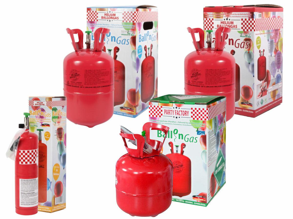Heliumgasflasche Helium Gasflasche Ballongas für 0,10 m³, 0,25m³, 0,42m³ Helium