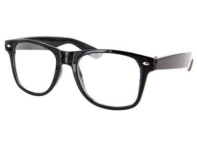 Nerd Brille Retro Hornbrillen Sonnenbrille Streber Atzen Brille Klar Way farer