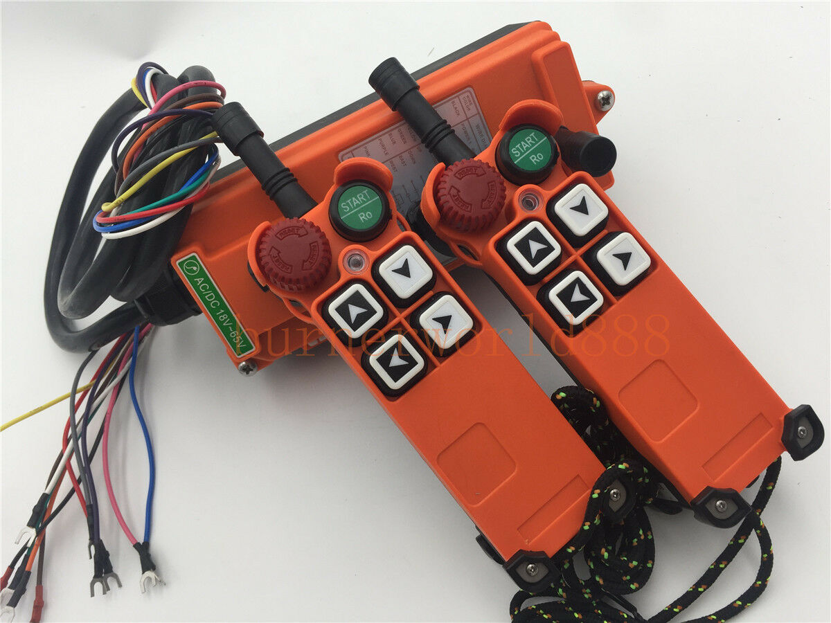 AC//DC 12V 1 Receiver F21-E2 Crane Industrial Radio Remote Control with Safety Key Switch 2 Transmitter