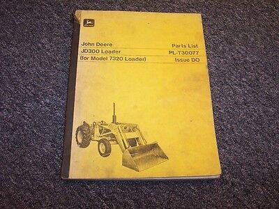 John Deere 300 Bulldozer Dozer Loader Original Parts Catalog Manual Pc972