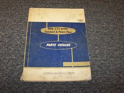 Wabco 666 777 Road Motor Grader Standard Power Flow Parts Catalog Manual Book