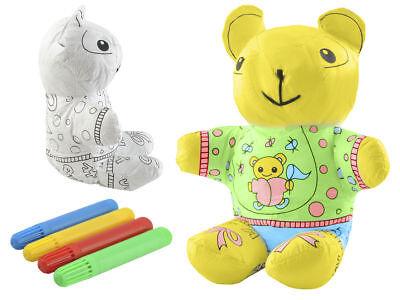 Maskottchen Bär Stofftier zum selbst bemalen Teddy tolles Geschenk waschbar (Waschbär Maskottchen)
