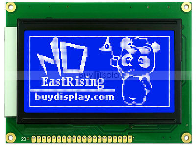 Blue 12864 128x64 Dots Graphic Lcd Display Module Lcm Wks0107ks0108tutorial