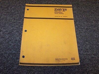 Case Davis Road Runr 550 Trencher Attachments Original Parts Catalog Manual