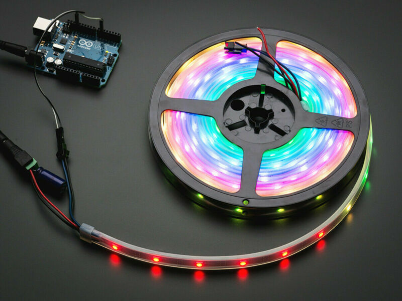 [3DMakerworld] Adafruit NeoPixel Digital RGB LED Strip - Black 30 LED - 1 meter